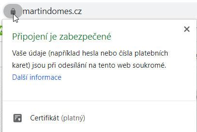 Kontrola nastavení protokolu HTTPS