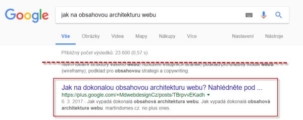 Příspěvky ze sítě Google+ se zařazují do vyhledávání