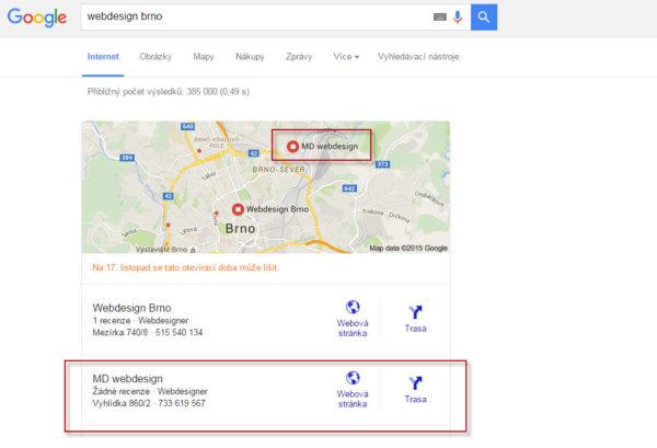 SEO tip - služba Moje firma na Googlu (2)