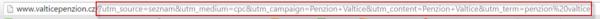 Sklik - parametry v URL adrese